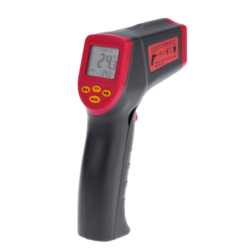 Meterk -32~530°C 12:1 Handheld Non-contact Digital Infrared IR Thermometer Temperature Tester Pyrometer LCD Display with Backlight