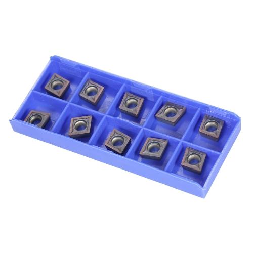 10pcs / box CCMT09T304 VP15TF Carbide Inserisce CCMT 09 T3 / CCMT32.51 Inserimento Tornio CNC Lame di fresatura Strumento di tornitura