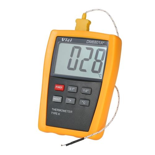Цифровой термометр Vici Mini LCD с датчиком температуры измерителя температуры с термопарой типа K