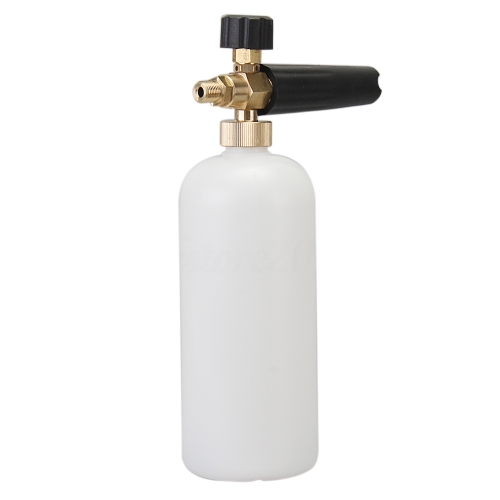Adjustable Car Wash Snow Foam Lance Pressure Nozzle Soap Bottle Gun 1/4 Adapter for Karcher Bosch Lavor Nilfisk Bubble Foaming Wa