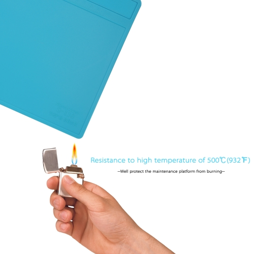 280*200mm Heat Insulation Silicone Pad for BGA Soldering Repair Solder Station Mat High Temperature Maintenance Platform with Rule