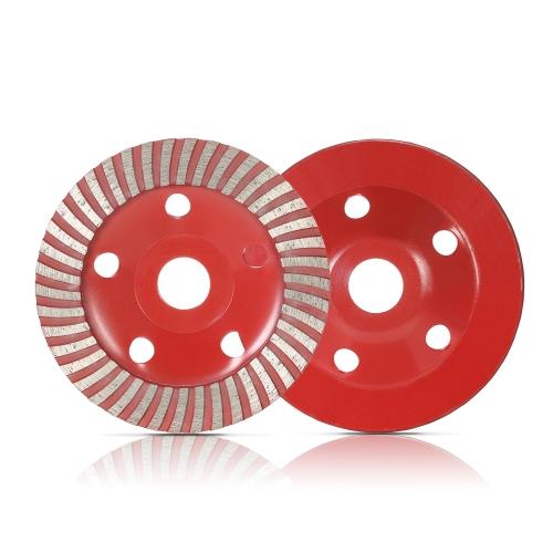 """125mm 5 """"Segmento de diamante Disco de rueda de molienda en forma de cuenco Taza de molinillo 22 mm Agujero interior para hormigón Granito Piedra de mampostería Cerámica Terrazzo Mármol Industria de la construcción"""