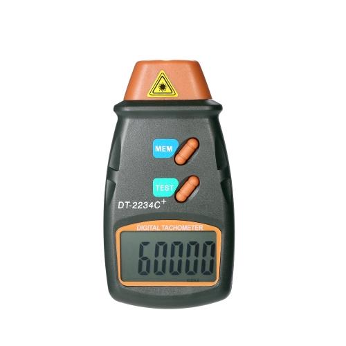 Лазерный бесконтактный тахометр с тахометром для цифровых фотокамер 2.5RPM-99,999RPM с жидкокристаллическим дисплеем с 3-мя светоотражающими лентами