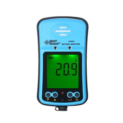SENSOR INTELIGENTE Profissional Industrial Digital Portátil Medidor portátil de oxigênio automotriz Detector de gás de alta precisão de gás Detector de monitor com display LCD Alarme de vibração de som e luz 100-240V
