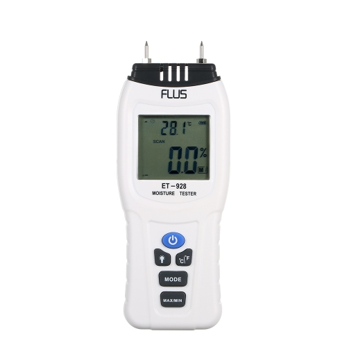 2Pins Digital Wood Moisture Meter Water Content Analyzer Humidity Measuring Tool Tester Timber Damp Detector Hygrometer LCD Displa