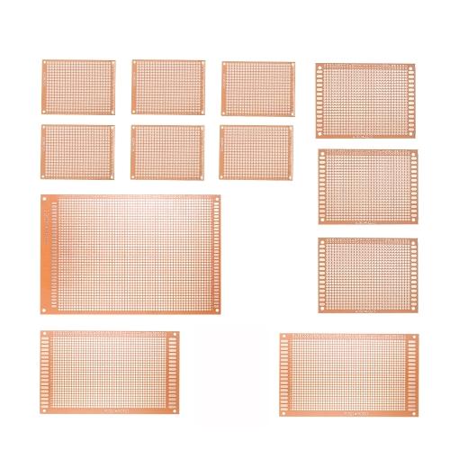 12pcs prototipo PCB Board Breadboard Universal impreso Junta de circuito para el proyecto de bricolaje electrónico