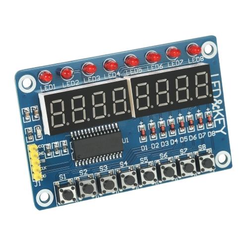 8-bitowy cyfrowy LED Tube 8-bitowy TM1638 8-klawiszowy moduł wyświetlacza dla AVR Arduino