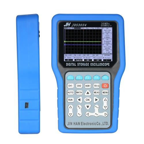 Многофункциональный карманный цифровой осциллограф для хранения данных 4-канальный измеритель диапазона 30 МГц 250MSa / s