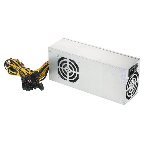 Alimentatore da server switching 2400W Alimentatore da macchina professionale da miniera ad alta efficienza 90% per Ethereum S9 S7 L3 Rig Mining 180-260V