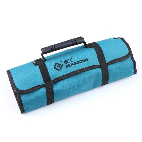 PENGGONG Tool Bag Organizer Oxford Canvas Scalpello Rolling Pounch Wearable e impermeabile Riparazione Carrying Handle Bag con cintura per Carpenter Hammer Elettricista Repair Tools
