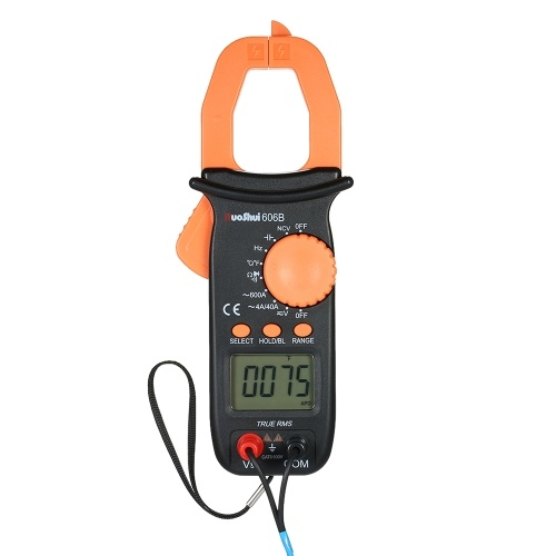 RuoShui Digital Clamp Meter 3999 Counts Auto Range Portable Handheld Multimeter w/ Backlight LCD Diaplay Measuring AC/DC Voltage A