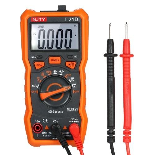 Multimetro digitale Mini 6000 NJTY Multi-funzionale senza contatto True RMS