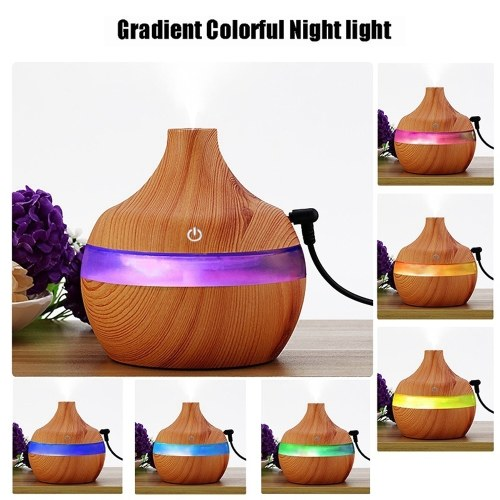 $4.68 OFF USB Wood-grain LED Night Lamp
