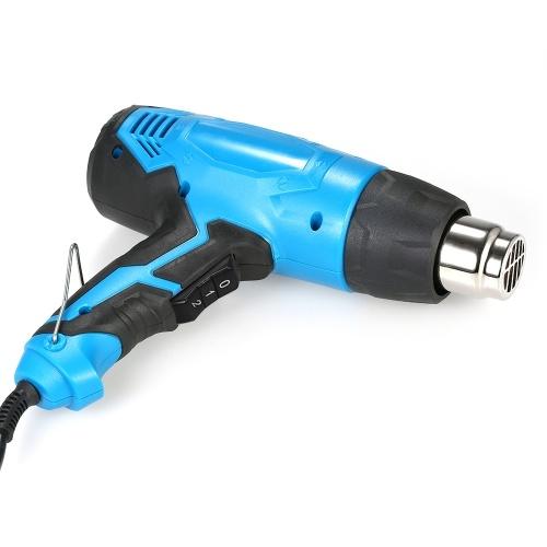 Pistola de calor de alta potencia de 2000 vatios Pistola de aire caliente eléctrica de temperatura controlada de mano de alta calidad Herramienta de pistola de calor ajustable de temperatura dual AC220V
