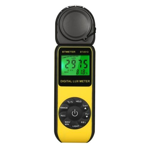 BTMETER BT-881DデジタルLuxメーターハンドヘルドLuxmeter Lux / FCルミノメーターフォトメーターメジャーテスター