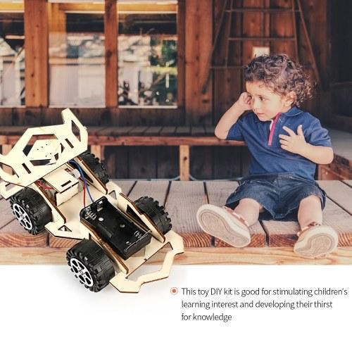Wood Racing Car DIY Kit Kids Toy DIY Kit Electric Wooden Racing Car