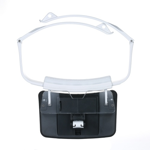 TH9203 Headband Magnifier Glasses LED Magnifying Head Mount Magnifier Interchangeable Loupe 5 Replaceable Lenses 1.0X/1.5X/2.0X/2.5X/3.5X