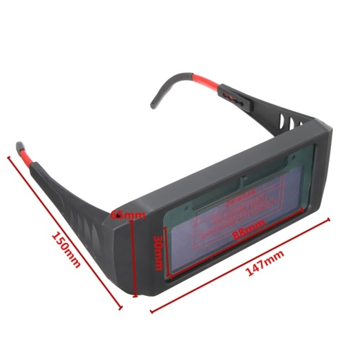 Solar Powered Auto Darkening Welding Glasses Welding UV Protection