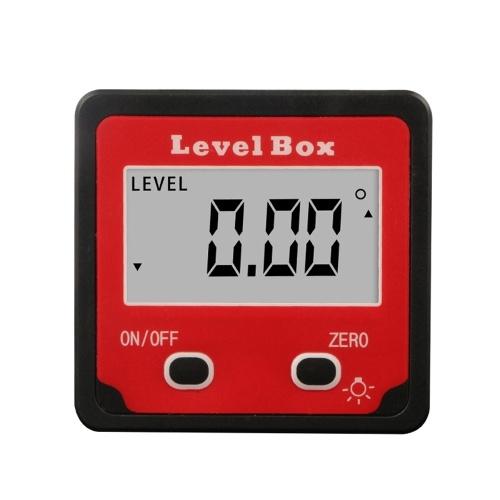 Indicateur de niveau numérique Inclinomètre Angle de niveau magnétique Indicateur de niveau Outil de mesure d'angle de boîte de niveau pour menuiserie / bâtiment / automobile