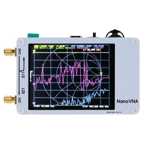 Портативный векторной сетевой анализатор 50 кГц-900 мГц с цифровым дисплеем с сенсорным экраном коротковолновой СВЧ УКВ-антенны УВЧ-анализатор стоячей волны