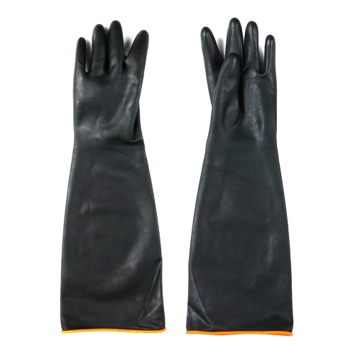 21'' 55cm Latex Work Working Gloves Double Layer Chemical Resistant Alkali Acid Resistant Flexiable Reuseable Protective Gloves
