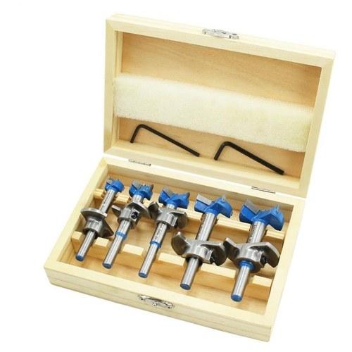 13-35mm Kabinett Scharnier Lochsägen Holzbearbeitung Loch Bohrer Set Lochöffner Tischler Position Lochöffner mit Schraubenschlüssel Scharnier Lochsäge Set mit Holzkiste