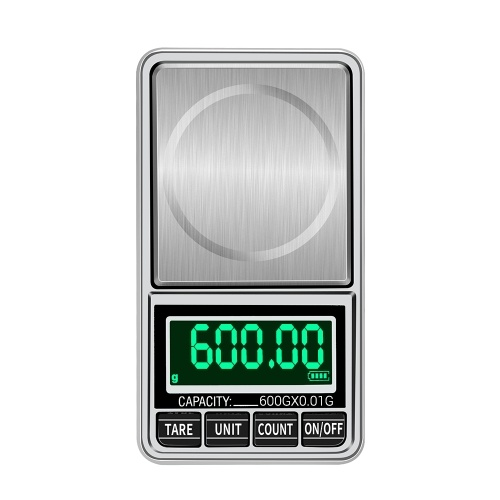 Portable Digital Scale Gold Jewelry Scale Mini Pocket Digital Scale Professional Accurate Electronic Scale Precision Balance 600g/0.01g DH-938C