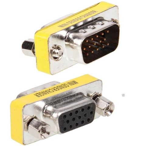 15 Pins HD SVGA VGA male to Female gender changer adapter Connector Convertor KY