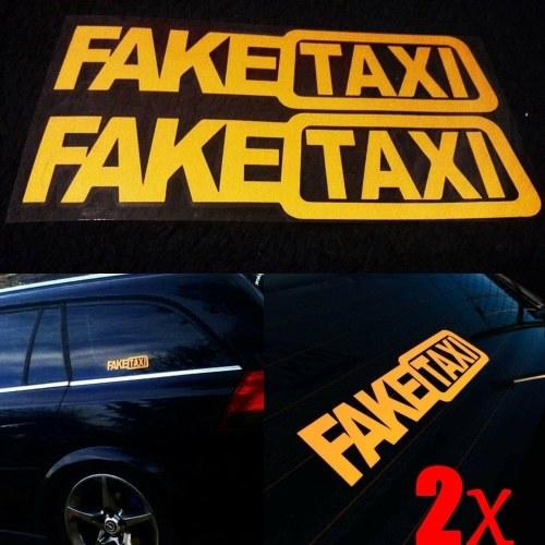 Divertido 2pcs FALSO TAXI Auto Auto