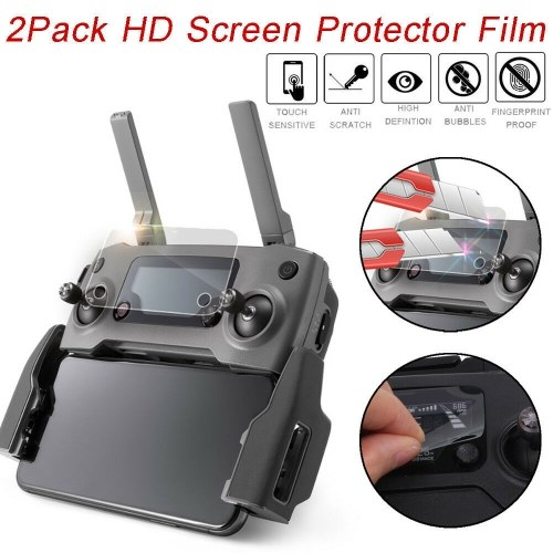 2Pcs HD Clear Protective Screen Protector Film For DJI Mavic 2 Remote Control