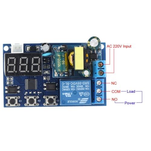 CA 220V LED pantalla automatización Digital Delay Timer Control relé módulo de conmutador