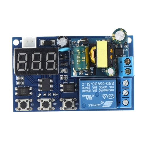 AC 220V LED Display Automação Digital Delay Timer controle Relay módulo Switch