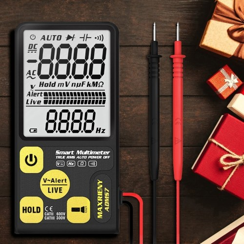 """MAXRIENY ADMS7 3.5"""" Digital Display Large Screen Intelligent Automatic Multimeter AC/DC Voltage Resistance Frequency Meter True RMS 6000 Counts Display with Flashlight Function"""
