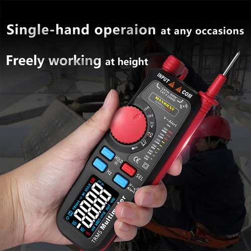 MAXRIENY ADM92CL PRO Mini TRMS Dual Mode Multimeter with Data Hold Backlight Auto Power Off Function