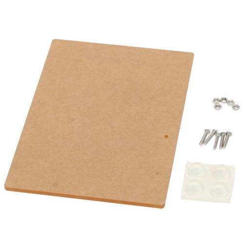 Plaque de Base acrylique plate-forme expérimentale pour Arduino UNO R3 bord Fixation 11,7 cm * 8,1 cm