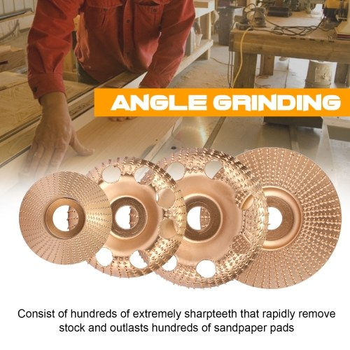 Woodworking Wood Angle Grinding Wheel Sanding Carving Rotary Tool NO.45 Steel Abrasive Disc for Angle Grinder