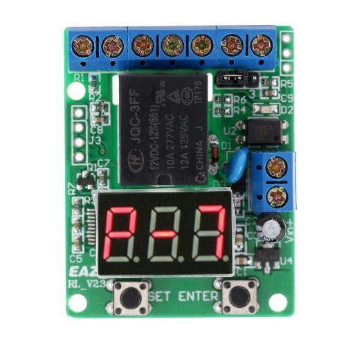 12V DC Multifunction Self-lock Relay PLC Cycle Timer Module Delay Time