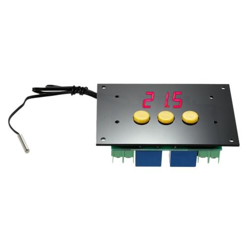 Регулируемые автоматический выключатель термостата 12V температура контроллер 2 канала реле вывода высокая/низкая температура сигнализации фото
