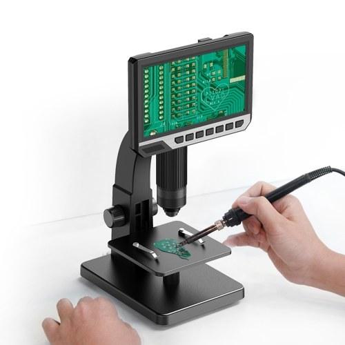 Inskam315 7 Inch IPS High Definition Screen Industrial Digital Microscope Camera 0-2000x Multipurpose Camera Watch Repair Tool