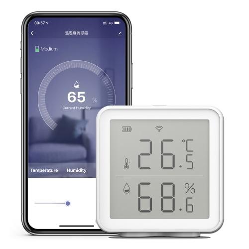 Умный датчик температуры и влажности WiFi, совместимый с Alexa Google Assistant