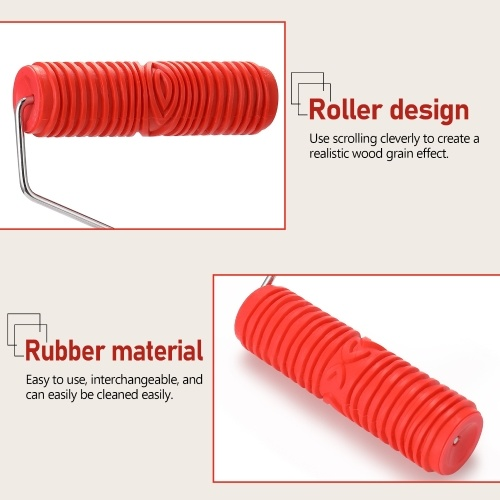 7 Inch Rubber Paint Roller Embossed Texture Pattern Wall Paint Roller Background Home Decorative Wall Paint Brush Roller