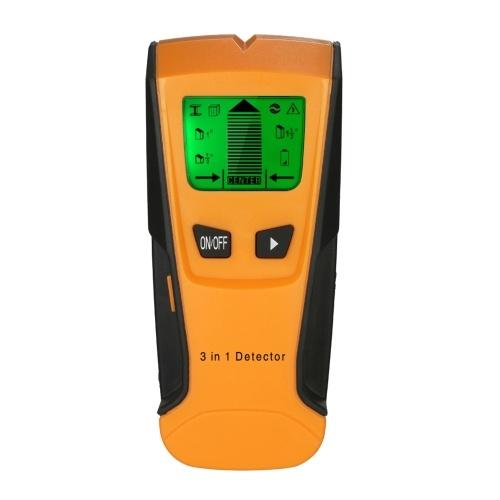 Stud Finder 3 in 1 Multifunktionaler digitaler LCD-Wanddetektor Metall Holz AC Kabel Live Wire Scanner