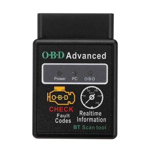 Autodiagnosescanner V2.1 OBD-2 HH OBD ELM327 Funktioniert Android-Drehmoment BT ELM327 HH OBD-Schnittstelle ELM327