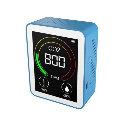 CO2-Detektor Luftqualitätsdetektor Intelligenter Luftdetektor Tragbarer Temperatur- und Feuchtigkeitsmesser Luftqualitätsprüfer Kohlendioxidmonitor