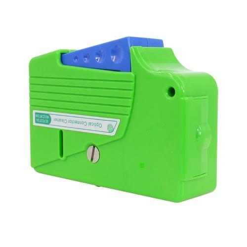 ポータブル光ファイバーコネクタクリーニングボックスカセットタイプ光ファイバージャンパーエンドフェイスクリーナーワイパークリーニングツールFC / SC / LC / S-T / MU / D4 / DIN用多機能ユーティリティ光ファイバークリーニングツール