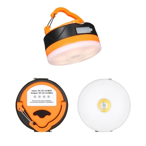 Camping Lights USB Rechargeable Camping Lantern 1600mAh Power Bank Outdoor LED Tent Light with 5 Modes