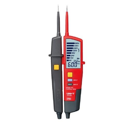 UNI-T UT18Dオートレンジ電圧および導通テスター、LCDバックライトデータホールドRCDテストおよび自己検査付き