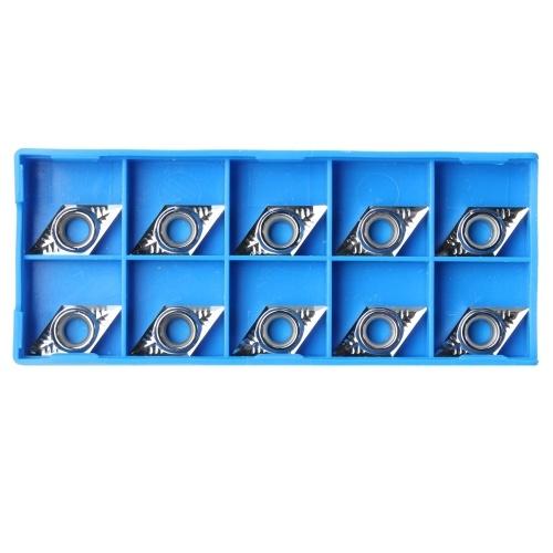 10個のシルバーブレードDCGT11T304-AKH01 / DCGT32.51-AKH01アルミニウム合金に使用される超硬インサート