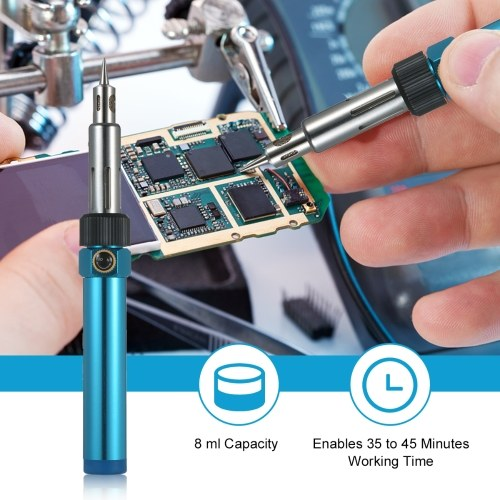 Portable Gas Soldering Iron Butane Soldering Iron Welding Torch Tool with Adjustable Flame 2370℉ High Temp for Electronics Wood Burning