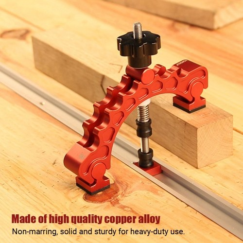 T-Track Hold Down Clamp Horizontal Toggle Clamp Adjustable T-Slot Clamp Woodworking Tool Clamps Up to 75mm for Workbench CNC Router Miter Saw Table
